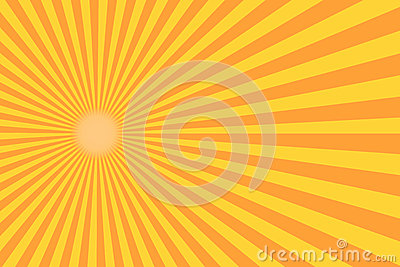 Retro sunburst ray in vintage style. Abstract comic book background