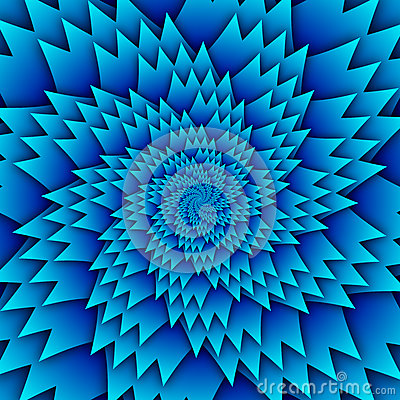 Abstract star mandala decorative pattern blue background square image, illusion art image pattern, background photo