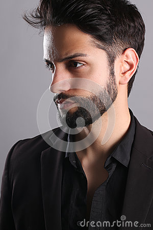 Handsome man with a low fade haircut