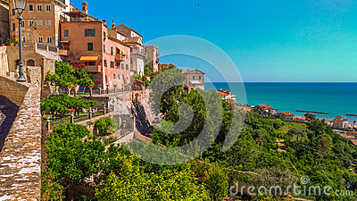 Grottammare village on the adriatic sea, Marche