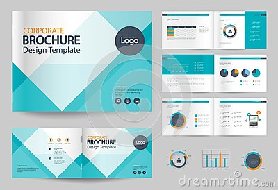 Business brochure design template and page layout for company profile