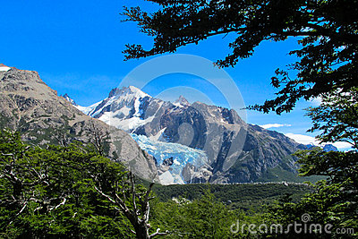 Andes Austral mountains and glaciar