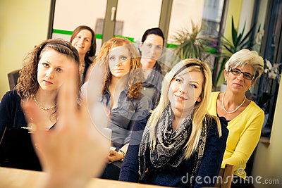 stock image of women only seminar