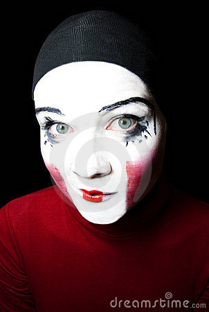 Portrait of the cheerful mime