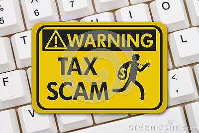 Tax scam warning sign