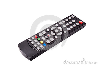 TV remote control isolated on white background. with clipping pa