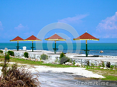 Jamaica Red Roofed Cafe Tables