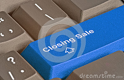 Key for closing sale