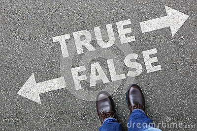 False true truth fake news lie lying facts decision decide compa
