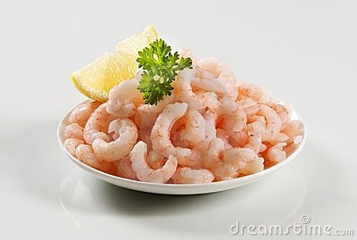Plateful of shrimps