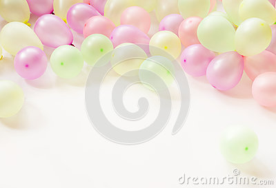 Colorful small baloons