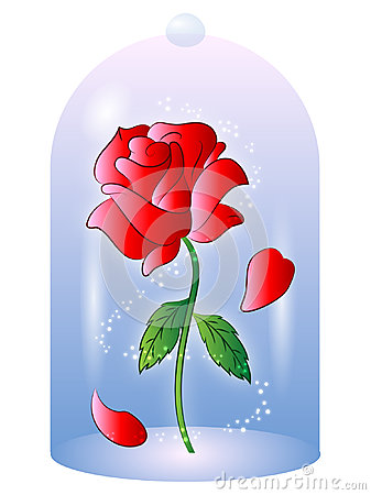 Rose from Beauty and the Beast Vector Illustration