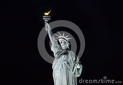 Statue of Liberty at night, New York City