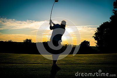 Golfing into the Sunset
