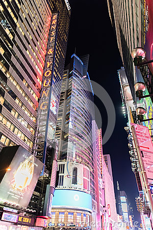 Time Square at night, New York City