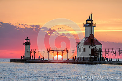 Solstice Sundown at St. Joseph Lighthouses