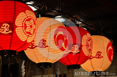 Lanterns of Gion festival, Kyoto Japan summer
