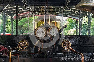 In the steam locomotive