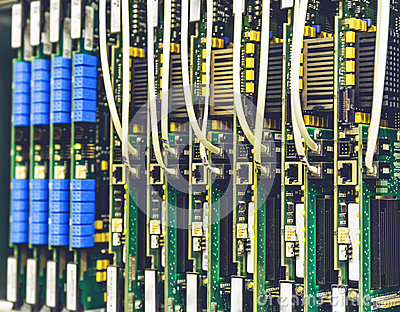 Electrical equipment, printed boards in network server data center, telecommunications equipment