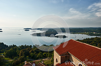 View to Vrsar from above -Istria,Croatia