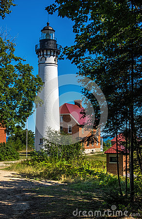 Au Sable Point Light at Pictured Rocks National Lakeshore near G