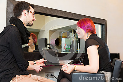 At The Hairdresser`s