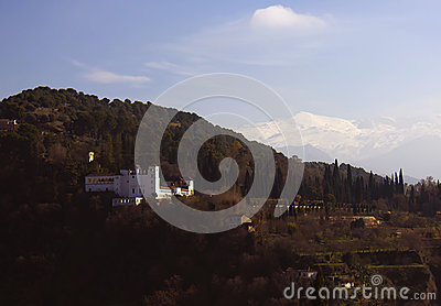 The tipic view of Granada, Spain