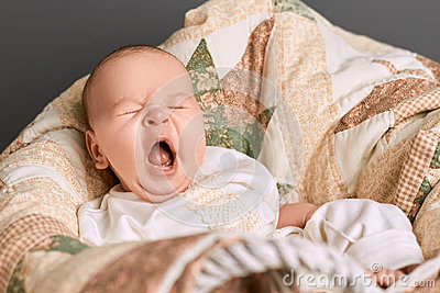 Yawn of an infant.