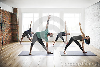 Yoga Practice Exercise Class Health Concept