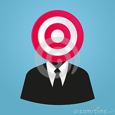 Stylized businessman target market, A specific group of consumers at which a company aims its products and service