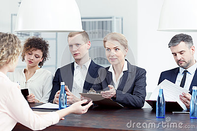 Woman from recruitment committee