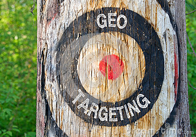 Geo Targeting - tree with target