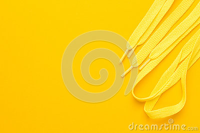 Yellow shoe laces
