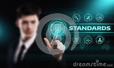 Standard Quality Control Certification Assurance Guarantee Internet Business Technology Concept