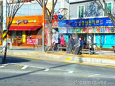 Beautil street view on daily shops