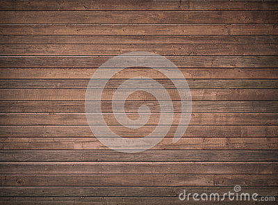 Brown wooden wall, table, floor surface. Dark wood texture.
