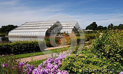 The grand glasshouse at Wisley.