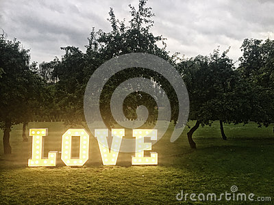 Love neon letters in park