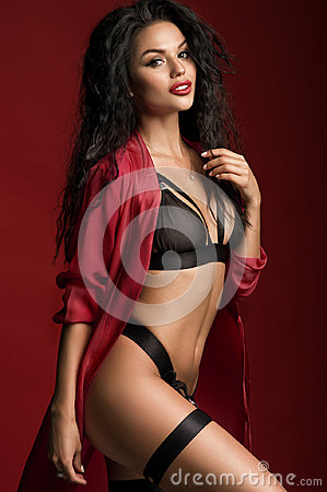 Young beautiful woman in lingerie
