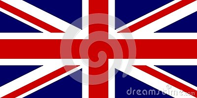 Official flag of United Kingdom of Great Britain and Northern Ireland. UK flag aka Union Jack. Vector illustration