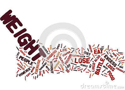 The Easy Diet To Help You To Lose Those Excess Pounds Text Background Word Cloud Concept