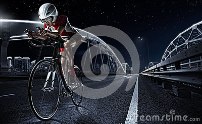 stock image of sport backgrounds. athletic woman cycling road bike.