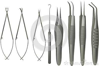 Microsurgery tools set