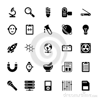 Science and Technology Glyph Vector Icons 14