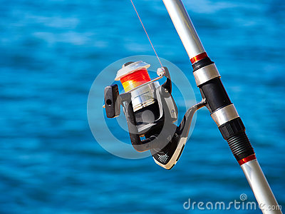 Fishing rod with a spinning reel