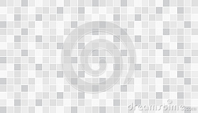 White and gray ceramic floor and wall tiles. Abstract vector background. Geometric mosaic texture. Simple seamless pattern