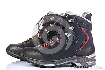 Tourist boots for mountain hikes
