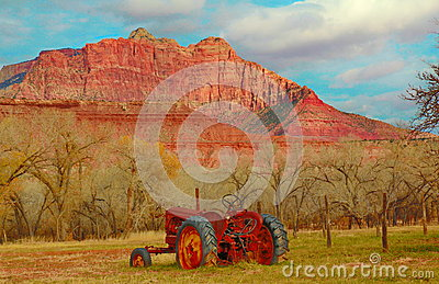 Tractor in the Ghost town of Grafton, Utah