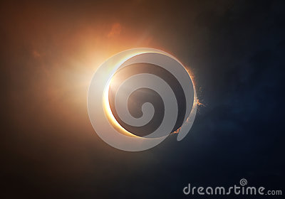 stock image of solar eclipse