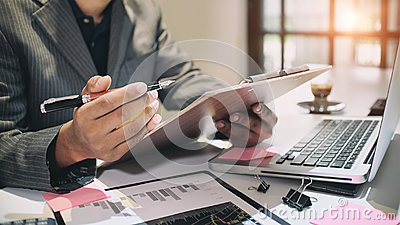 Audit concept,Bookkeeper or financial.